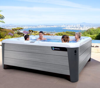 Hot Spring Highlife 2019 Grandee Ice Gray Driftwood Lifestyle Family